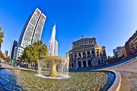 famous Opera house in Frankfurt, the Alte Oper, Germany