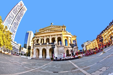 alte: famous Opera house in Frankfurt, the Alte Oper, Germany