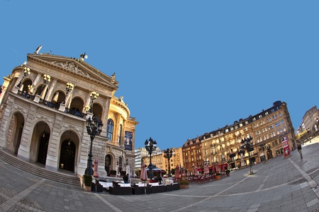oper: famous Opera house in Frankfurt, the Alte Oper, Germany