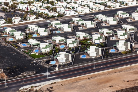 agglomeration: settlement of new houses all in same style