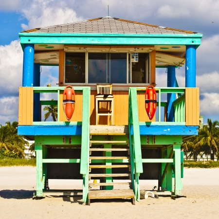 hut: South Beach Miami Lifeguard Tower