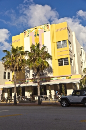 beautiful houses in Art Deco style in South Miami Stock Photo - 13776158