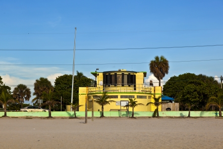 old public building at the beach in Art deco Style