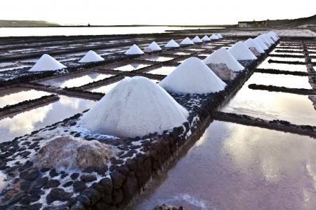 lanzarote: Salt refinery, Saline from Janubio, Lanzarote, Spain