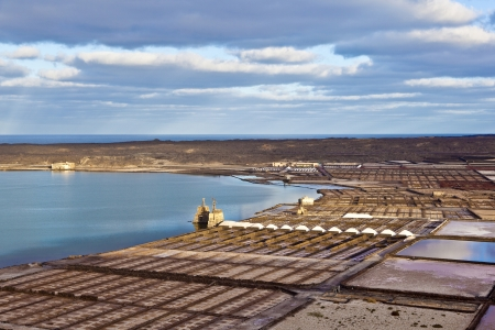 Salt refinery, Saline from Janubio, Lanzarote photo