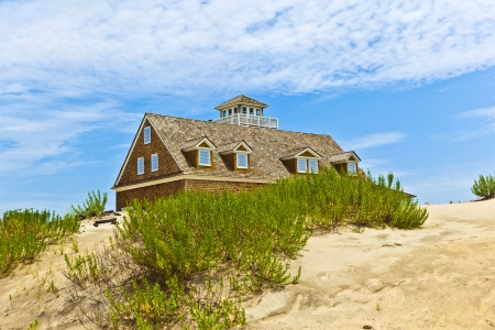 beautiful house in the dunes