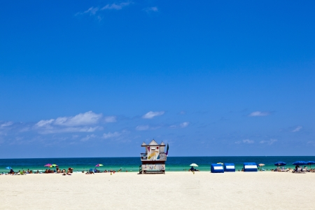 wooden bay watch hut at the ocean in Miami South Stock Photo - 13663332