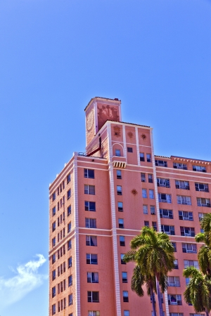 beautiful historic buildings in South Miami in the Art deco district Stock Photo - 13652165
