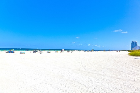 beachlife in south Miami with clear blue sky photo