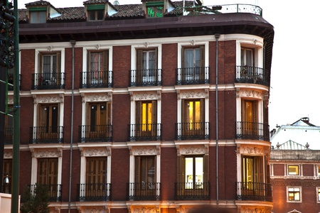 old houses downtown Madrid with lofts Stock Photo - 13681397
