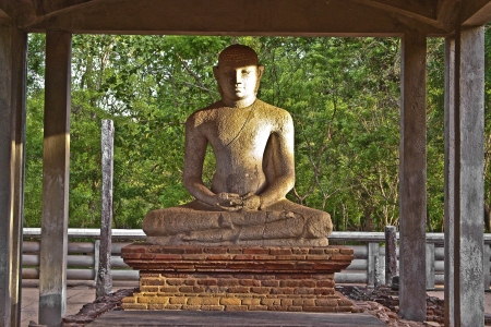 samadhi: Samadhi Buddah Statue, meditating Buddah, beauty and holiness, Sri Lanka Stock Photo