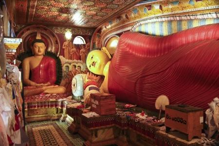 dagoba: colorful lying Buddah in the  Jetavanarama Dagoba, Sri Lanka Editorial