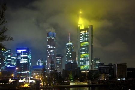 cityscape of Frankfurt am Main by night photo