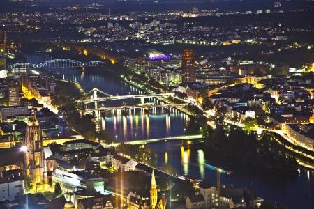 Frankfurt am Main at night Stock Photo - 13769266