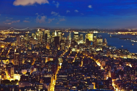 New York by night from Empire State Building Stock Photo - 13731929
