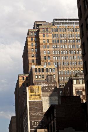 high older brick buildings in New York, Manhattan photo