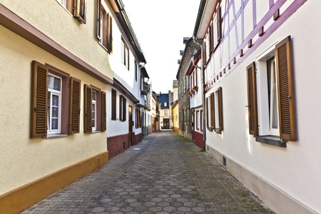 medieval street with old half-timbered houses Stock Photo - 13705902