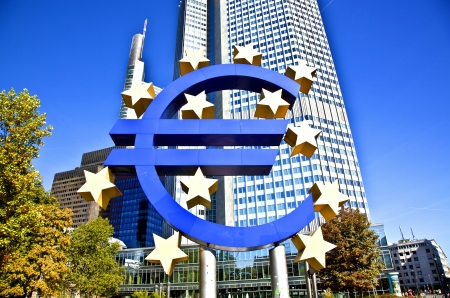 brandt: The European Central Bank (ECB) on a sunny day, Frankfurt am Main, Germany