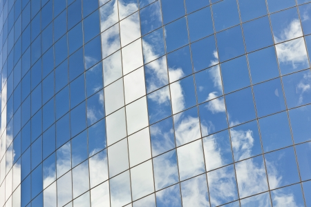 facade of Skyscraper with reflection of sky in New York Stock Photo - 13757100