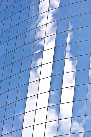 facade of Skyscraper with reflection of sky in New York Stock Photo - 13705880