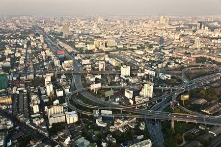 View across Bangkok skyline showing office blocks and condominiums Stock Photo - 13761473