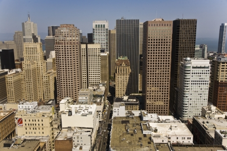 Skyline of San Francisco seen from a sky scraper with blue sky Stock Photo - 13761441