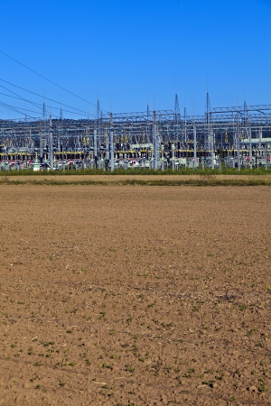 electrical power plant in beautiful colorful meadow Stock Photo - 13705798