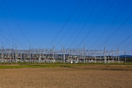 electrical power plant in beautiful colorful meadow Stock Photo - 13705830