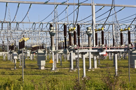 electrical power plant in beautiful colorful meadow Stock Photo - 13705800