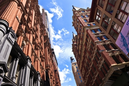 beautiful Green Street in Manhattan with old houses, New York Stock Photo - 13731958