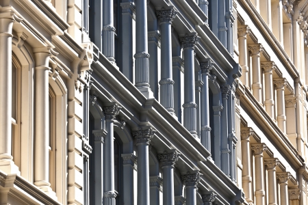 facade at old houses downtown in New York Stock Photo - 13770009