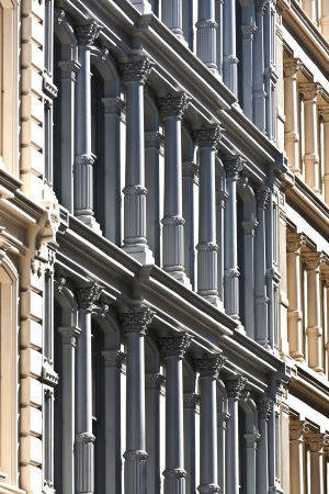facade at old houses downtown in New York photo