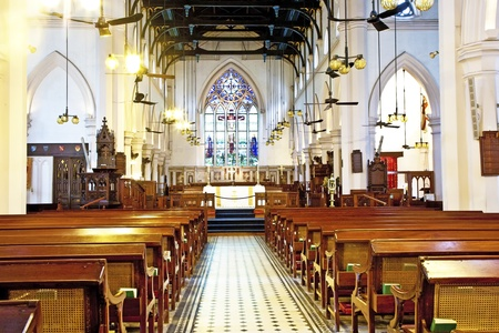 famous old St. Johns Cathedral in Hong Kong Stock Photo - 13761392