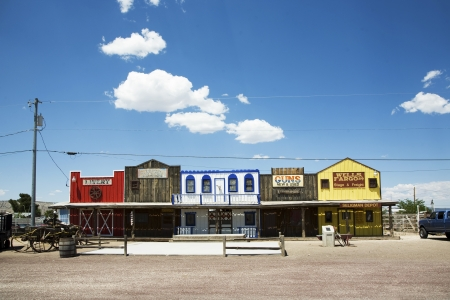 old wooden western houses at the historic Route 66 Stock Photo - 13692143