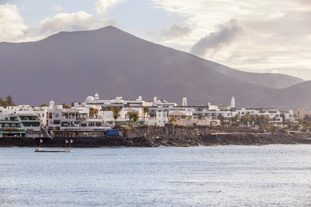 scenic view to the promenade of Playa Blanca, Lanzarote from seaside Stock Photo - 13757073