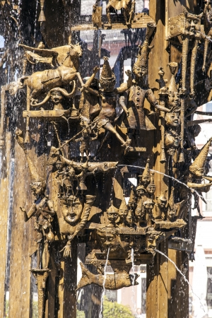 mainz: detail of the carnival fountain in Mainz