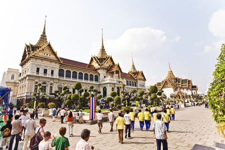 maha: Chakri Maha Prasat in the Great Palace in Bangkok Editorial