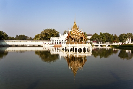pa: beautiful buildings and park in the Sommerpalace Bang Pa In of the King of Thailand near Ajuttaya Editorial