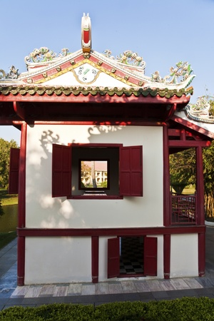 beautiful buildings and park in the Summer Palace Bang Pa In of the King of Thailand near Ajuttaya Stock Photo - 13715272