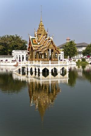 Bang Pa-In Aisawan Thipya-Art (Divine Seat of Personal Freedom) at the Royal Summer Palace near Bangkok, Thailand