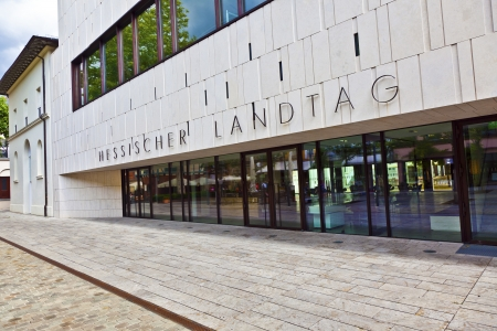 entrance to the landtag in Wiesbaden photo