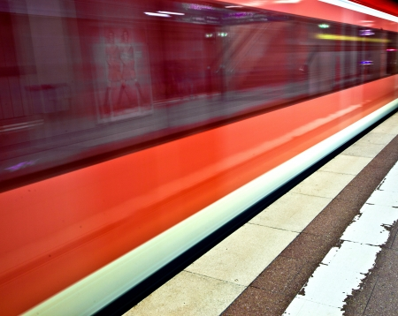 subway in the station with speed Stock Photo - 13731920