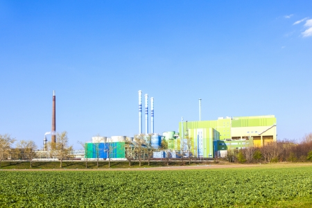 Gebäude eines Industry Park in idyllischer Landschaft in der Nähe von Frankfurt