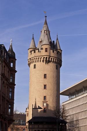 famous Eschesheimer Turm in Frankfurt, a medieval city gate tower