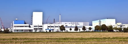 industry park: buildings of an Industry Park in beautiful landscape near Frankfurt