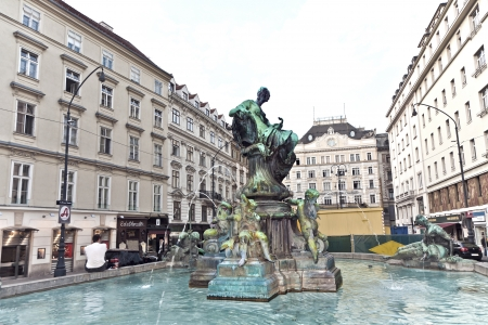donner: famous Donner fountain at the Neuer Markt in vienna