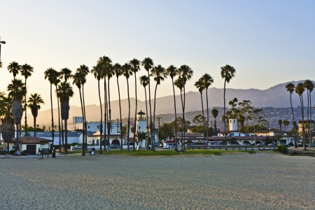 scenic pier in Santa Barbara in sunset