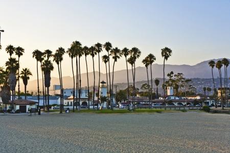 santa barbara: scenic pier in Santa Barbara in sunset