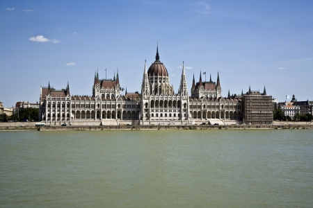 famous parliament of Hungary in Budapest, view over river danubia Stock Photo - 13743950