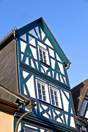 half timbered house: ELTVILLE, GERMANY - OCTOBER 16: historic half timbered houses on 16. October 2011 in Eltville, Germany. In 1332 Eltville became town by the bavarian King Ludwig and stayed undestroyed since that time.